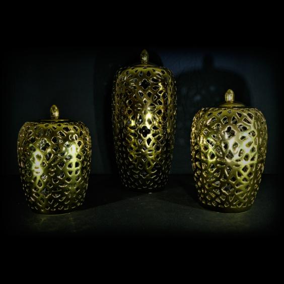 Jarron perforado de ceramica grande art culos de for Articulos de ceramica